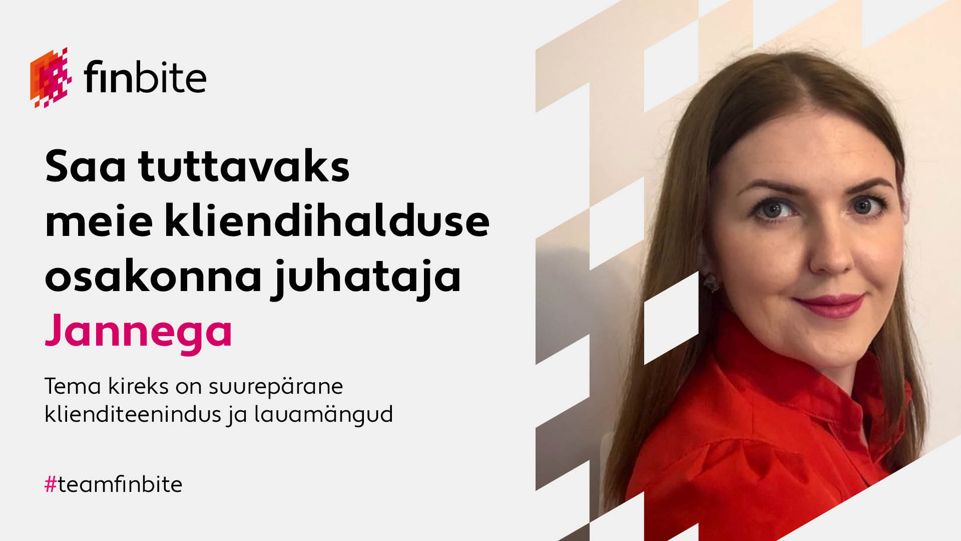 Meet Janne – the head of our Customer Service department